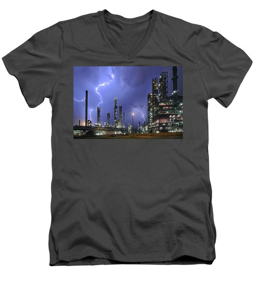 Lightning Men's V-Neck T-Shirt