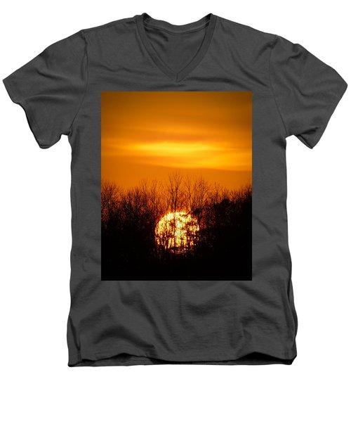 Inferno In The Trees Men's V-Neck T-Shirt