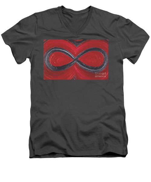 Infinite Love By Jrr Men's V-Neck T-Shirt