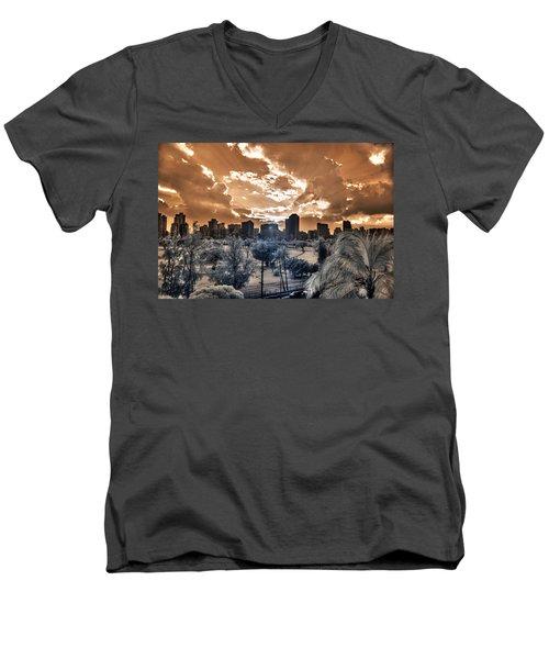 Infrared Sunset Men's V-Neck T-Shirt