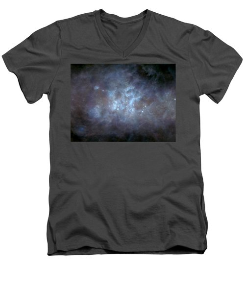 Men's V-Neck T-Shirt featuring the photograph Infrared View Of Cygnus Constellation by Science Source
