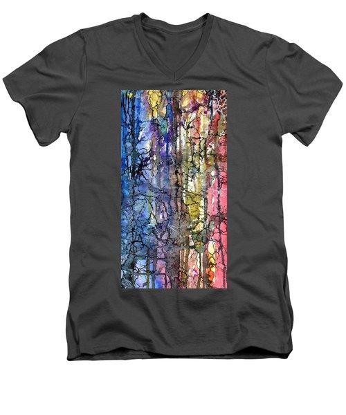 Ink Lines Men's V-Neck T-Shirt