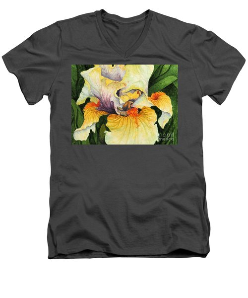 Men's V-Neck T-Shirt featuring the painting Inner Beauty by Barbara Jewell
