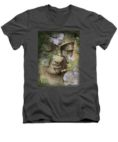 Inner Tranquility Men's V-Neck T-Shirt by Christopher Beikmann