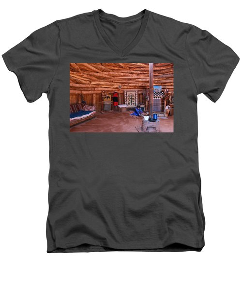 Inside A Navajo Home Men's V-Neck T-Shirt by Diane Bohna