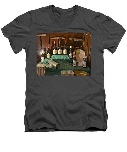 Inside The Wine Cellar Men's V-Neck T-Shirt