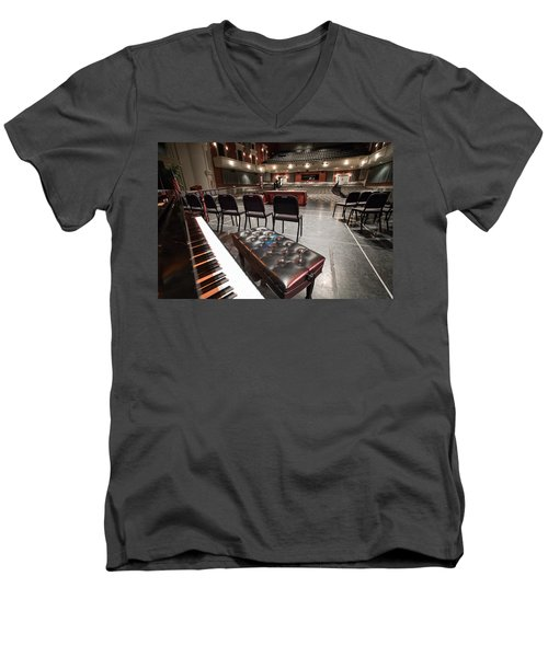 Men's V-Neck T-Shirt featuring the photograph Inside Theater by Alex Grichenko