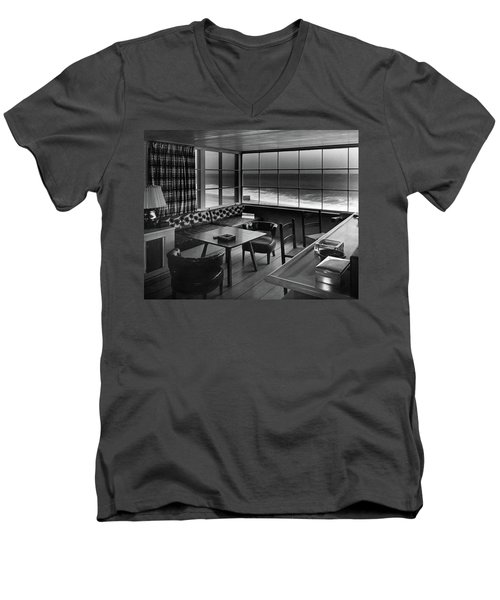 Interior Of Beach House Owned By Anatole Litvak Men's V-Neck T-Shirt