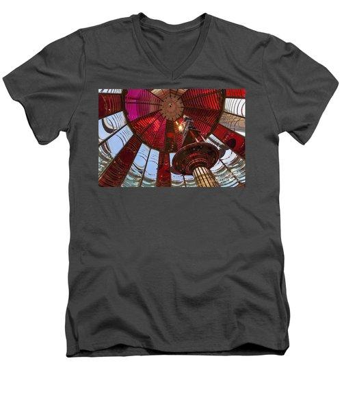 Interior Of Fresnel Lens In Umpqua Lighthouse Men's V-Neck T-Shirt