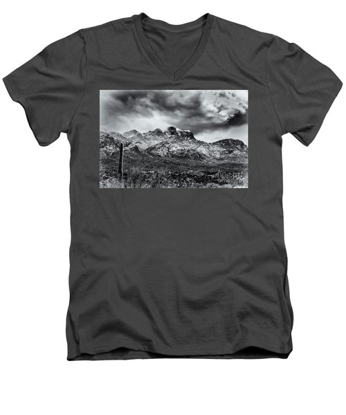 Men's V-Neck T-Shirt featuring the photograph Into Clouds by Mark Myhaver
