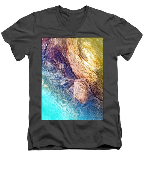Men's V-Neck T-Shirt featuring the photograph Into The Deep by Joyce Dickens