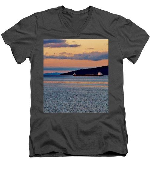 Into The Gitchigumi Night Men's V-Neck T-Shirt by Daniel Thompson