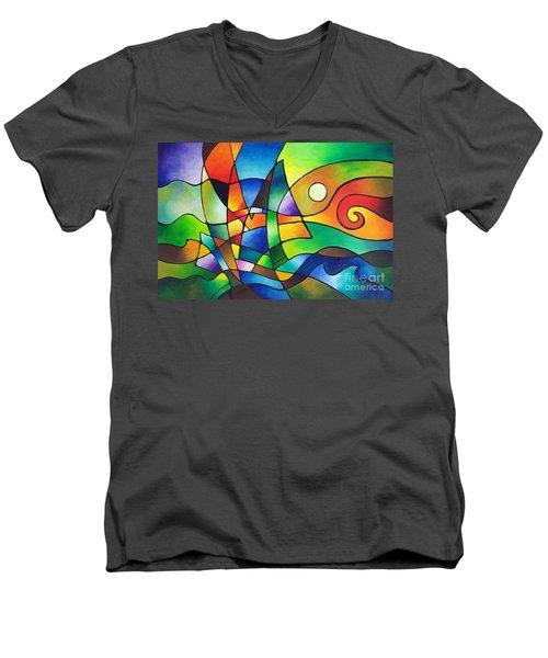 Into The Wind Men's V-Neck T-Shirt