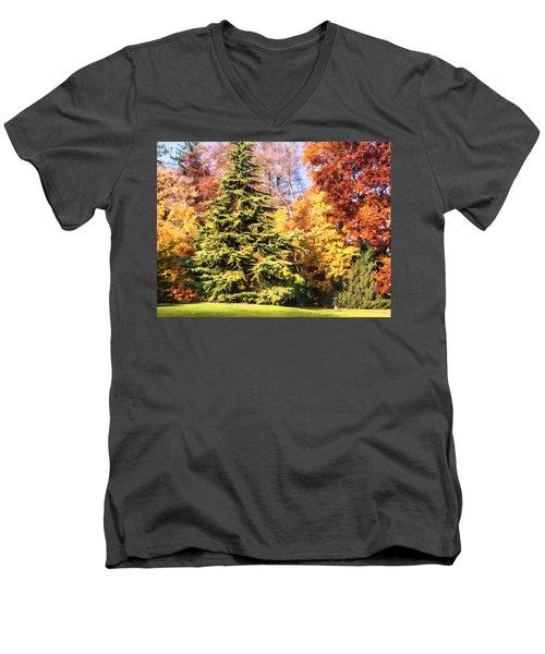 Into The Woods Men's V-Neck T-Shirt by Muhie Kanawati