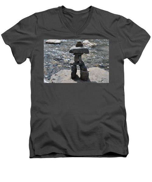Inukshuk By The Water Men's V-Neck T-Shirt