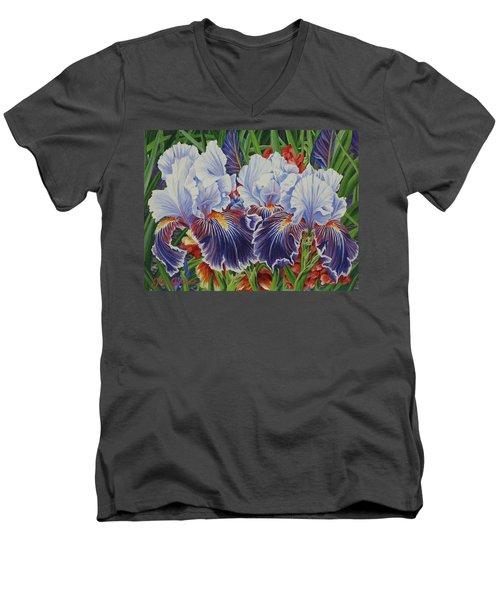 Iris Blooms Men's V-Neck T-Shirt