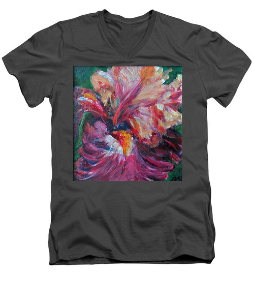 Iris - Bold Impressionist Painting Men's V-Neck T-Shirt