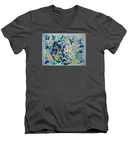 Iris Bouquet Men's V-Neck T-Shirt