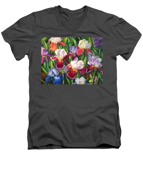 Irises2 Men's V-Neck T-Shirt