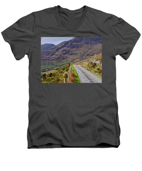 Irish Road Men's V-Neck T-Shirt by Suzanne Oesterling