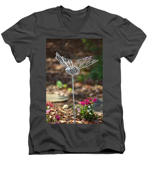 Iron Butterfly Men's V-Neck T-Shirt by Gordon Elwell