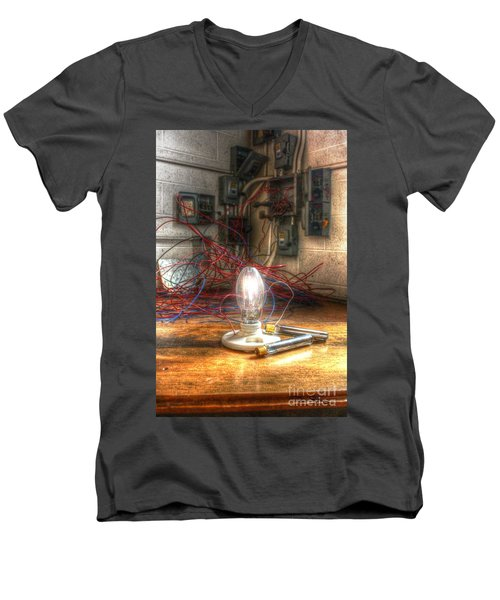 Is This Right Mr. Edison? Men's V-Neck T-Shirt