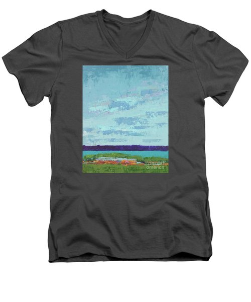 Island Estuary Men's V-Neck T-Shirt by Gail Kent