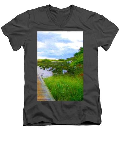 Island State Park Boardwalk Men's V-Neck T-Shirt