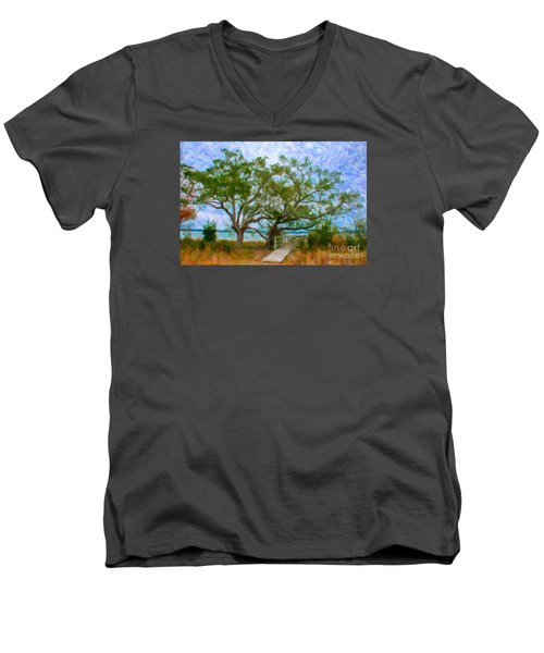 Island Time On Daniel Island Men's V-Neck T-Shirt