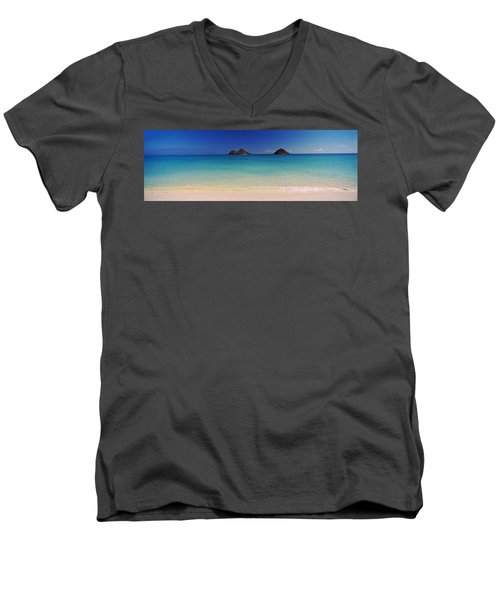 Islands In The Pacific Ocean, Lanikai Men's V-Neck T-Shirt