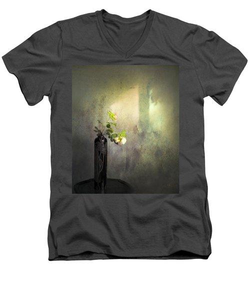 Isn't It Romantic Men's V-Neck T-Shirt by Theresa Tahara