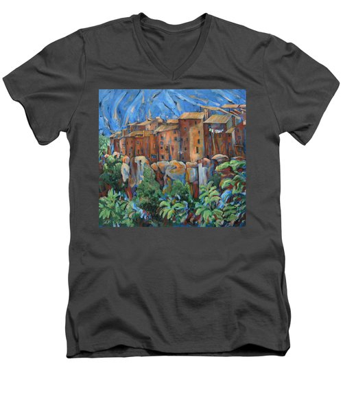 Isola Di Piante Large Italy Men's V-Neck T-Shirt