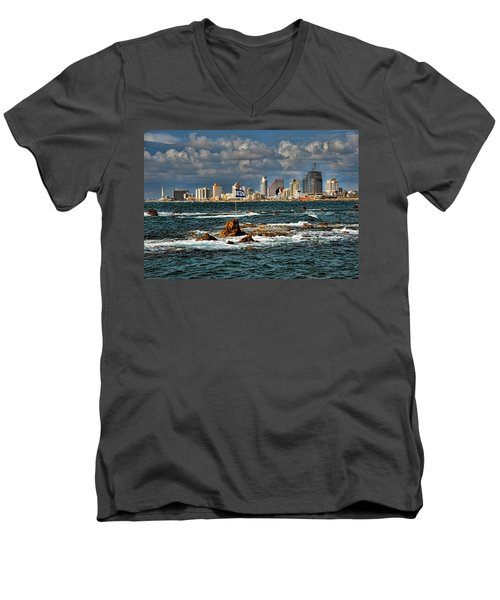 Israel Full Power Men's V-Neck T-Shirt