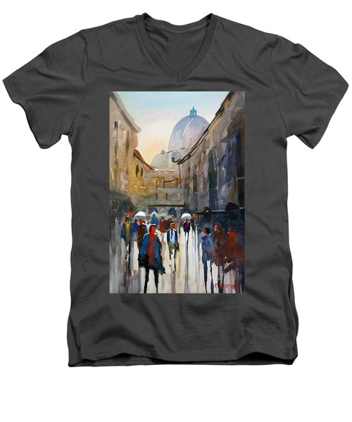 Italian Impressions 5 Men's V-Neck T-Shirt