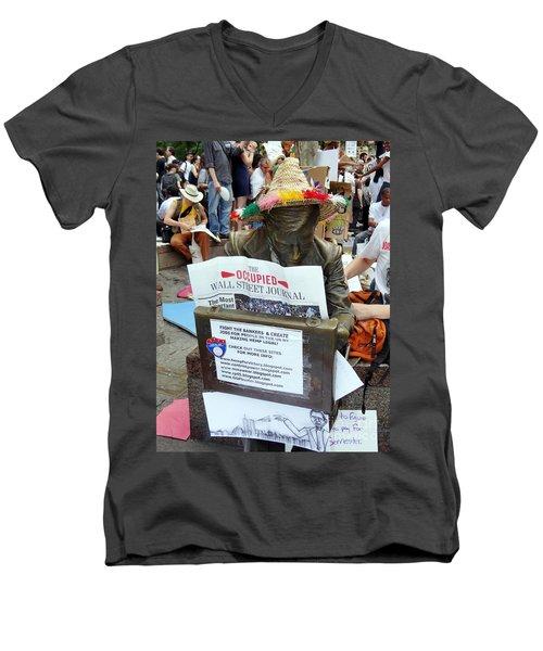 Men's V-Neck T-Shirt featuring the photograph Its A New Dawn by Ed Weidman