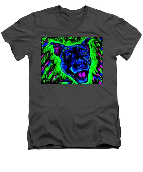 It's A Pitty Black Light Men's V-Neck T-Shirt