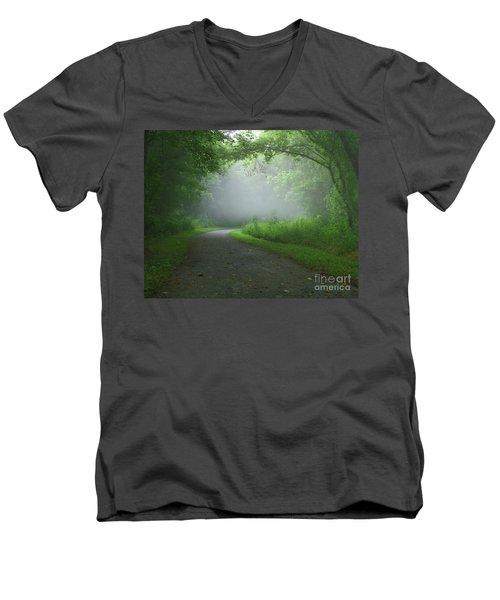 Mystery Walk Men's V-Neck T-Shirt by Douglas Stucky