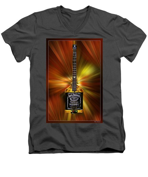 Jack Daniels Whiskey Guitar Men's V-Neck T-Shirt
