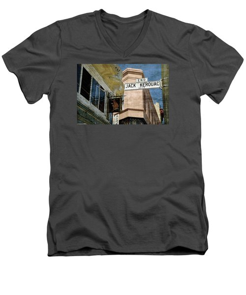 Jack Kerouac Alley And Vesuvio Pub Men's V-Neck T-Shirt