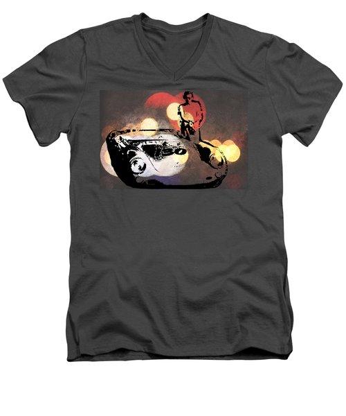 James Dean And Little Bastard Men's V-Neck T-Shirt
