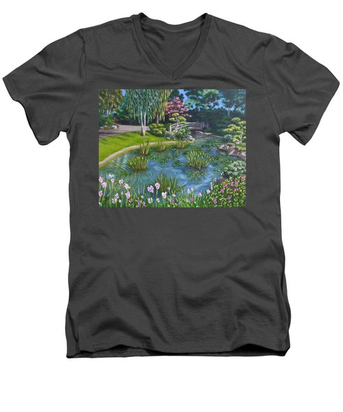 Japanese Garden Men's V-Neck T-Shirt