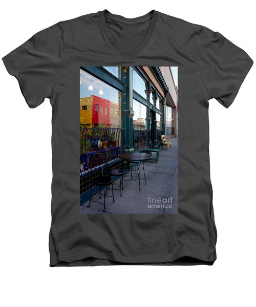 Men's V-Neck T-Shirt featuring the photograph Java Time by Vicki Pelham