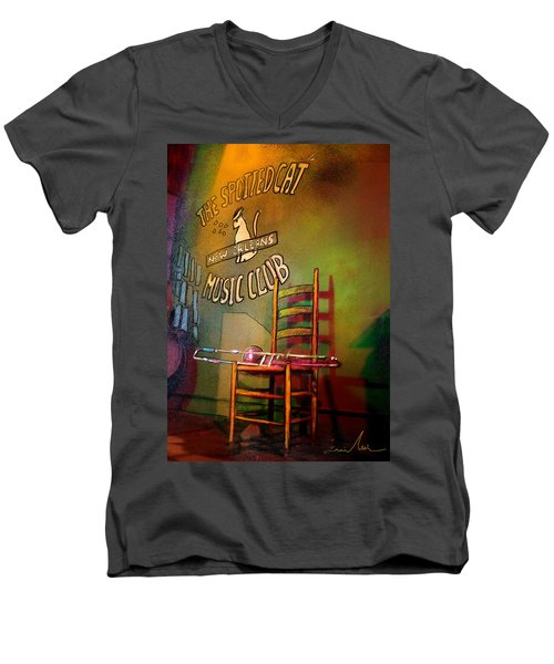 Jazz Break In New Orleans Men's V-Neck T-Shirt