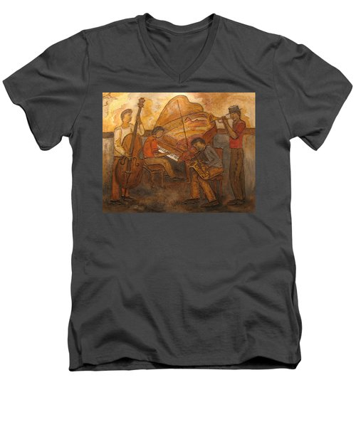 Jazz Quartet Men's V-Neck T-Shirt