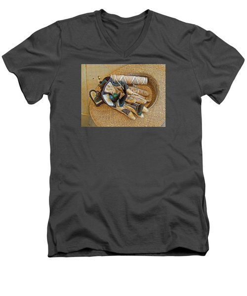 Men's V-Neck T-Shirt featuring the photograph Jean's Butterflies by Larry Bishop