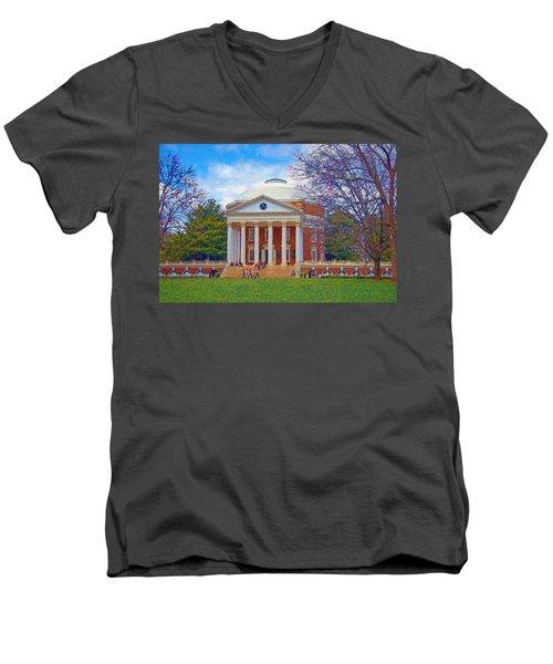 Jefferson's Rotunda At Uva Men's V-Neck T-Shirt