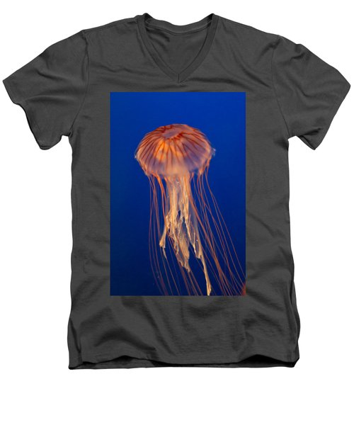Men's V-Neck T-Shirt featuring the photograph Jelly Fish by Eti Reid