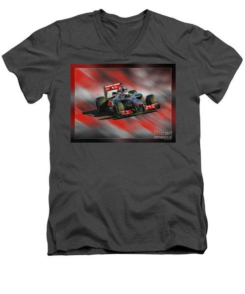 Jenson Button  Men's V-Neck T-Shirt