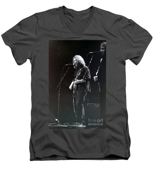 Grateful Dead -  In And Out Of The Garden  Men's V-Neck T-Shirt by Susan Carella