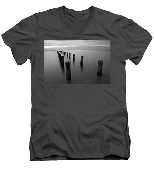Jetty At Sunset Men's V-Neck T-Shirt